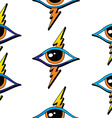 seamless one eye pattern vector image