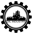 The icon with the oil refinery vector image