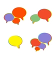 Trendy Flat Icons With Speech Bubbles Set vector image