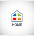 home window logo vector image
