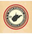 Vintage label-sticker cards of West Virginia vector image