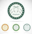 Set of elephant label vector image