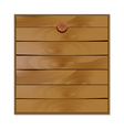 blank wooden board vector image