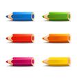 Spectrum cartoon pencils vector image