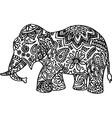 Black and white hand drawn doodle elephant vector image