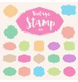 Set of pastel colour vintage Stamp Blank frame vector image vector image