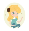 Cute horoscope - aries vector image