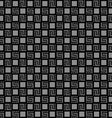 Checkered black seamless pattern vector image