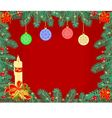 Christmas background decoration frame branches vector image