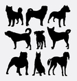 Dog collection pet animal silhouette vector image