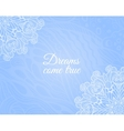 Light blue background with floral doodle vector image