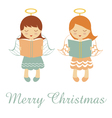 Merry Christmas angels vector image