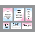 Modern Wedding Set template vector image