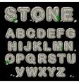 Stone alphabet in vector image