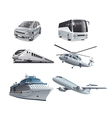 different mode of transport vector image
