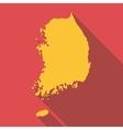 Korea map icon flat style vector image