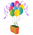 Nine colorful balloons in a bag vector image