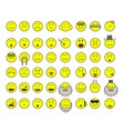 simple yellow smilies vector image