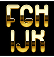 Gold alphabet letters vector image