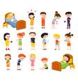 sick children doodle set vector image