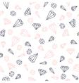 Hand drawn diamonds seamless pattern vector image