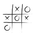 Noughts and crosses vector image