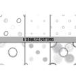 Scribble Circles Seamless Pattern Set vector image