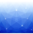 Abstract Blue Polygonal Background for Design vector image