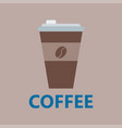 coffee cup take away thermo cup isolated vector image