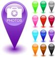 Photos button vector image