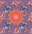 seamless decorative background flower mandala on vector image