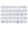 smart tv icons set flat design vector image