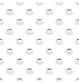 White cup of coffee pattern cartoon style vector image