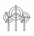 Wind generator turbines icon outline style vector image