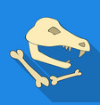 dinosaur fossils icon in flate style isolated on vector image