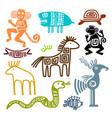 aztec and maya ancient animal symbols vector image