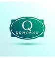 letter q label logo design for your brand vector image