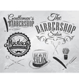 Barbershop Set chalk coal vector image vector image