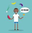 modern lifestyle go vegan young black man vector image