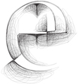 Sketch font Letter e vector image vector image