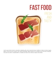 Toast with bacon vector image