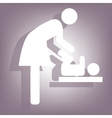 Symbol of baby changing vector image
