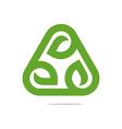 design go green garden plants circle icon vector image