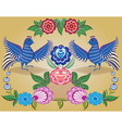 Folklore pattern Gorodets painting Russia vector image