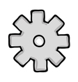 gear cartoon icon image vector image