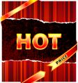hot price vector image