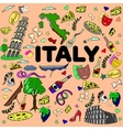 Italy line art design vector image