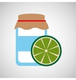 jar cute blue with jam lemon graphic vector image