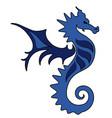 sea horse tattoo vector image