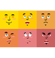 Set of cartoon face with emotions Red evil vector image